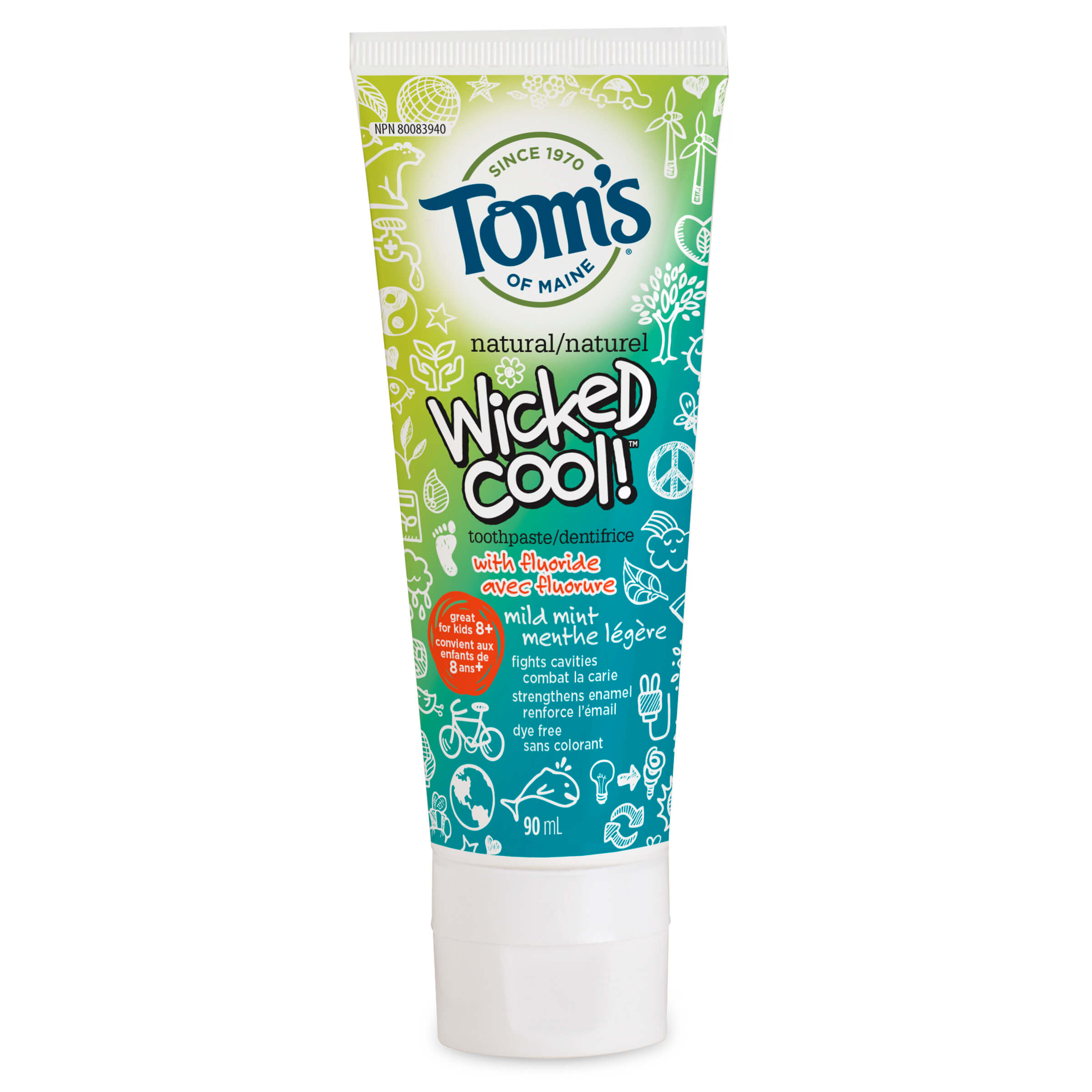 Wicked Cool!® Natural Anti-Cavity Toothpaste